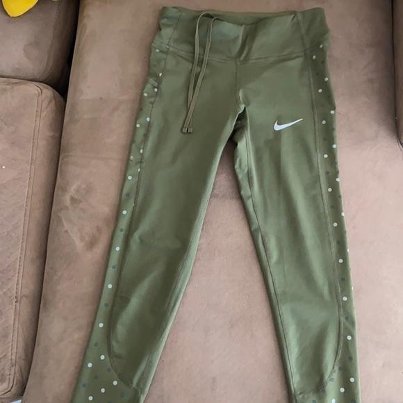 XS green Nike leggings